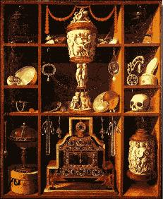 cabinet de curiosité XVIIem